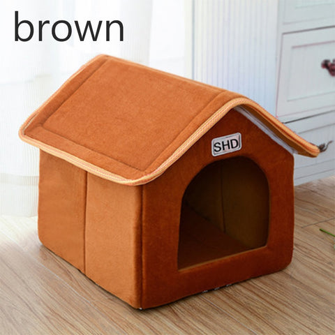 Brown stylish house for pets