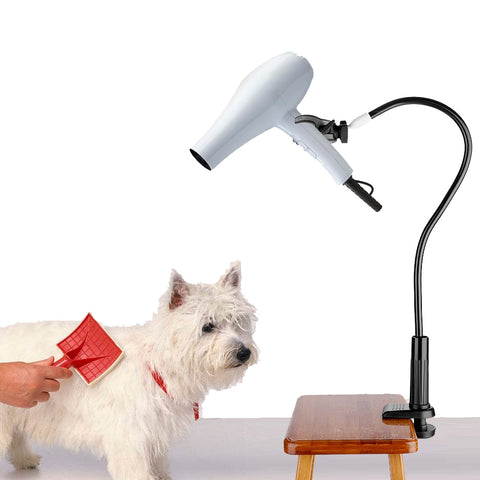 Fixed bracket hair dryer for pets