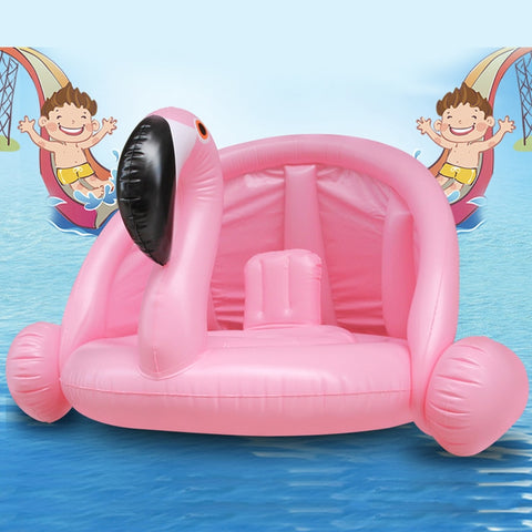 Flamingo swimming float for kids