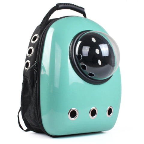 Blue & grey space capsule pet backpack