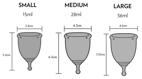 KIND CUP Size Guide - Soft Silicone Menstrual Cup