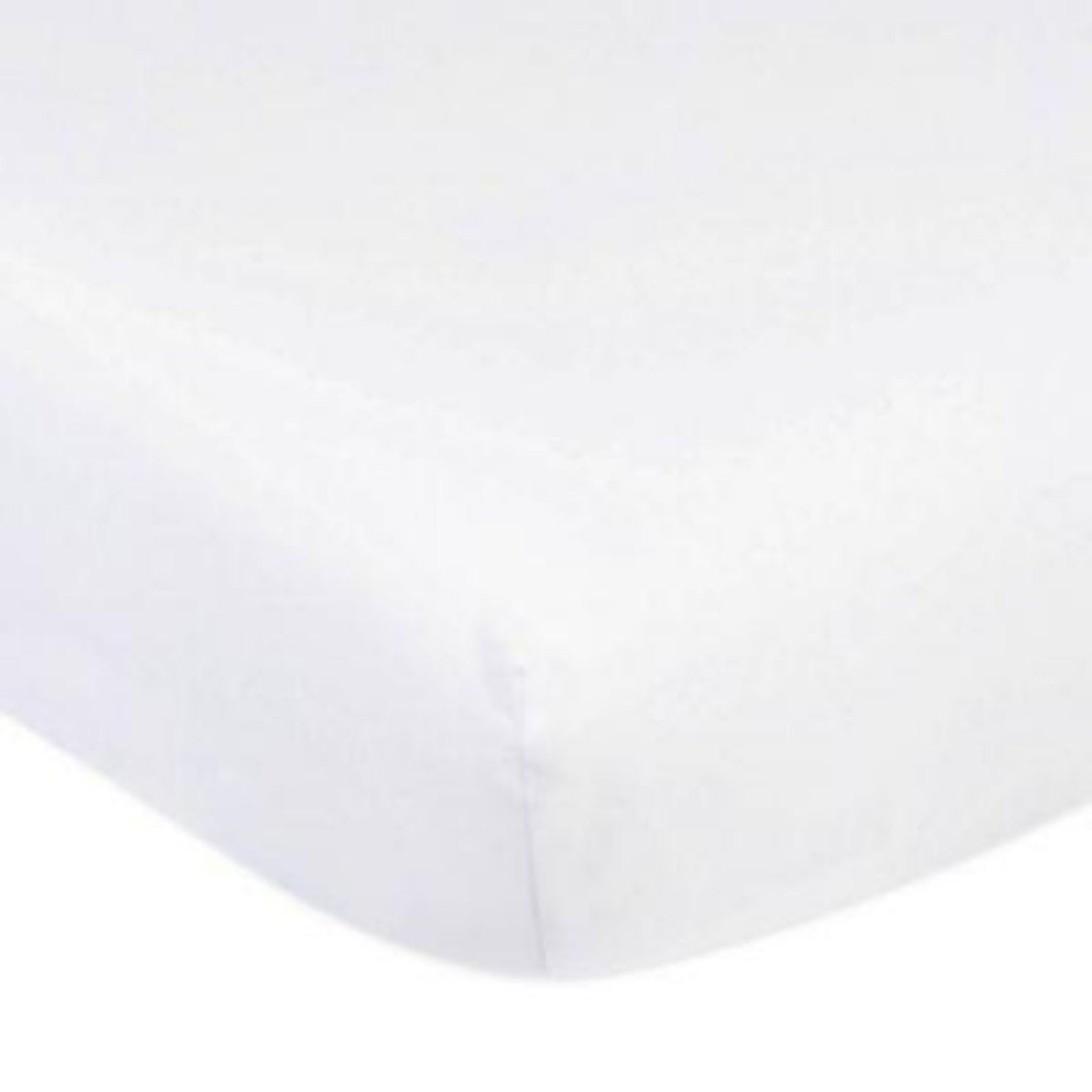 Organic Cotton - 300TC Cot Fitted Sheet (66x130cm) - White - SEEDS OF KINDNESS