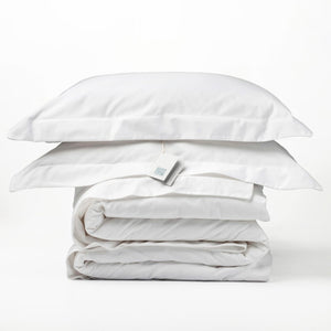 Organic Cotton - 300TC Duvet Cover Set Oxford - White - SEEDS OF KINDNESS