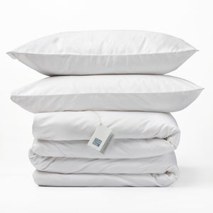 Organic Cotton - 300TC Duvet Cover Set Standard - White - SEEDS OF KINDNESS