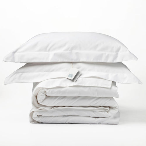 Organic Cotton - 550TC Duvet Cover Set Oxford - White - SEEDS OF KINDNESS