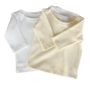 Organic Cotton - Baby Long Sleeve Vest (0-3M & 3-6M) - SEEDS OF KINDNESS