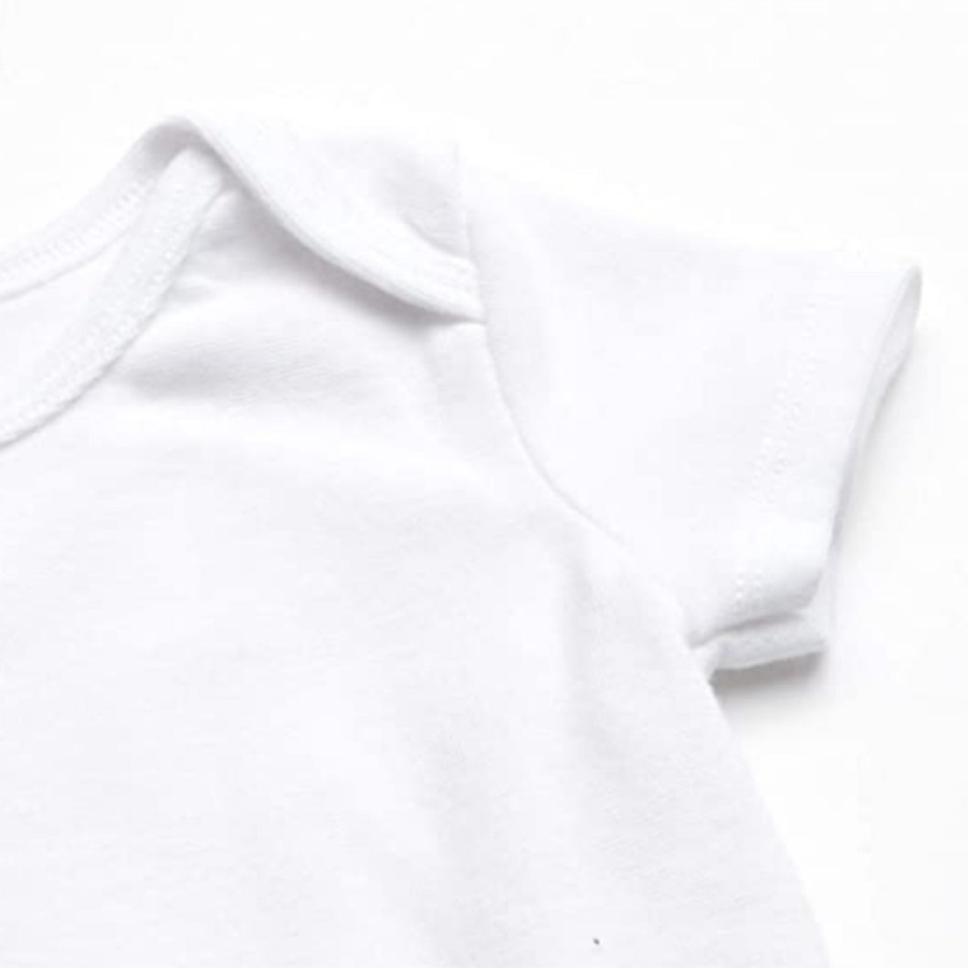 Organic Cotton - Baby Short Sleeve Vest (0-3M & 3-6M) - SEEDS OF KINDNESS