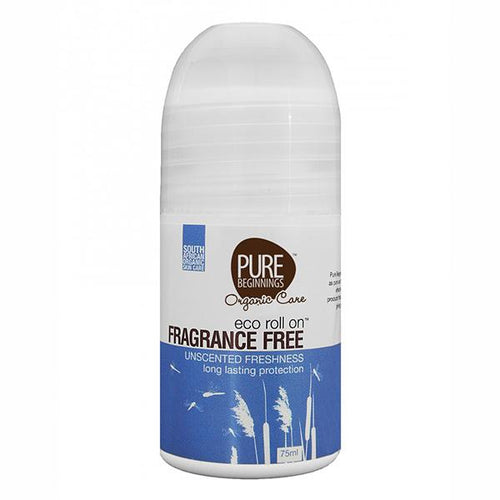 Pure Beginnings - Eco Roll On – Fragrance Free Unscented Freshness (75ml) - SEEDS OF KINDNESS