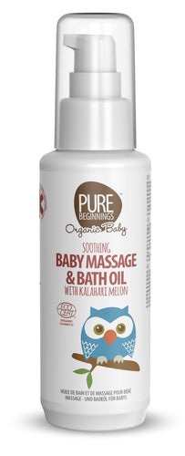 Pure Beginnings - Soothing Baby Massage & Bath Oil with Kalahari Melon (100ml) - SEEDS OF KINDNESS