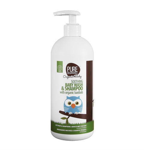 Pure Beginnings - Soothing Baby Wash & Shampoo With Organic Baobab (500ml) - SEEDS OF KINDNESS