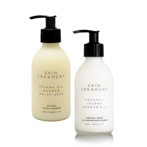 Skin Creamery Bundle - Everyday Cream & Oil Milk Cleanser 200ml - SEEDS OF KINDNESS