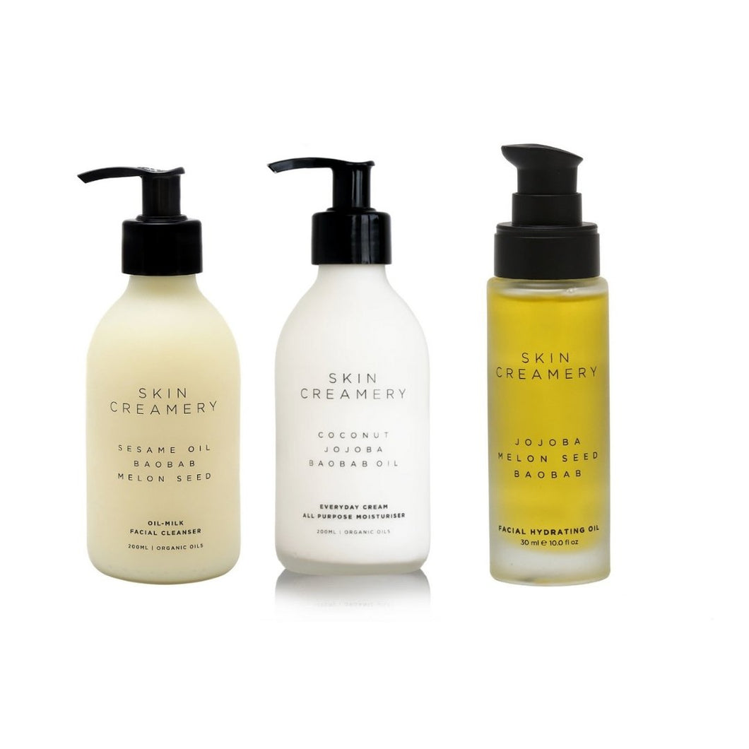 Skin Creamery Combo - Cream, Cleanser & Hydrating Oil - SEEDS OF KINDNESS