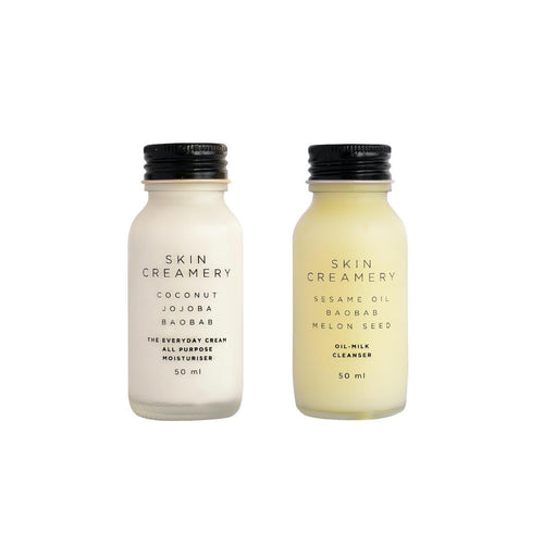 Skin Creamery - The Basic Set (50ml Oil Milk Cleaners & 50ml Everyday Cream) - SEEDS OF KINDNESS