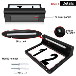 LED Solar House Number
