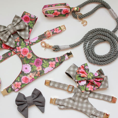 Mulberry Bouquet & Mountain Stone Dog Accessories
