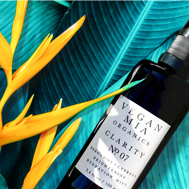Vegan Mia Organics Bergamot and Cypress Hydration Mist with Bird of Paradise Flower