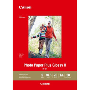 CANON GLOSSY PHOTO PAPER GLOSSY II PP301 A4 - 20 Sheets