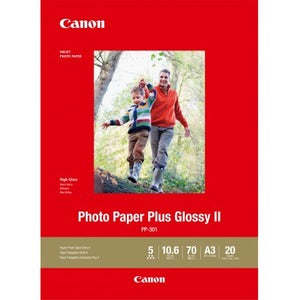 CANON GLOSSY PHOTO PAPER GLOSSY II PP301 A3 - 20 Sheets