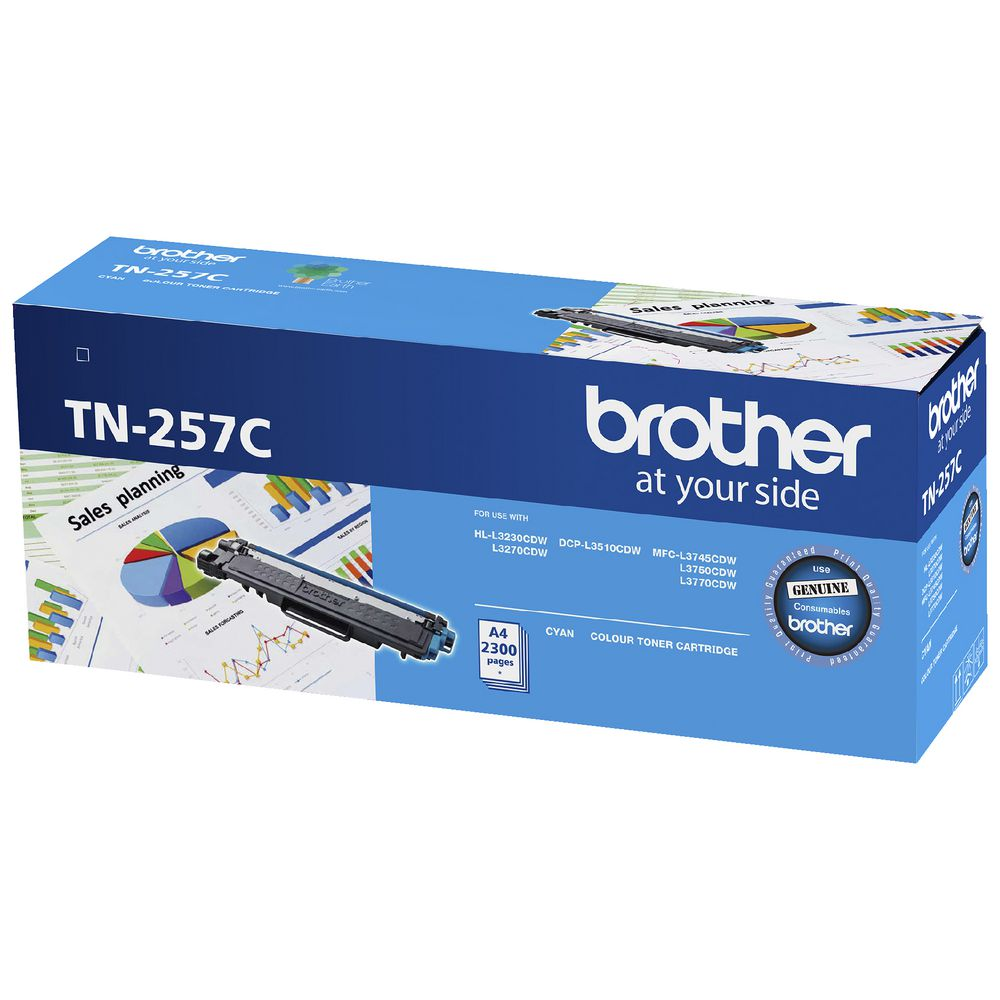 Brother TN-257 Cyan Toner Cartridge