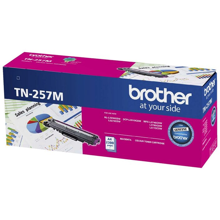 Brother TN-257 Magenta Toner Cartridge