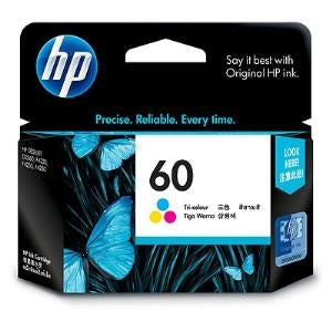 HP 60 TRI-COLOUR INK CARTRIDGE