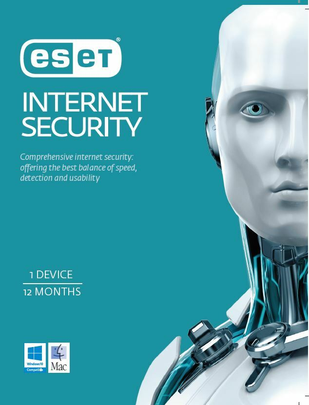 ESET Internet Security 1 Device 1 Year License Card