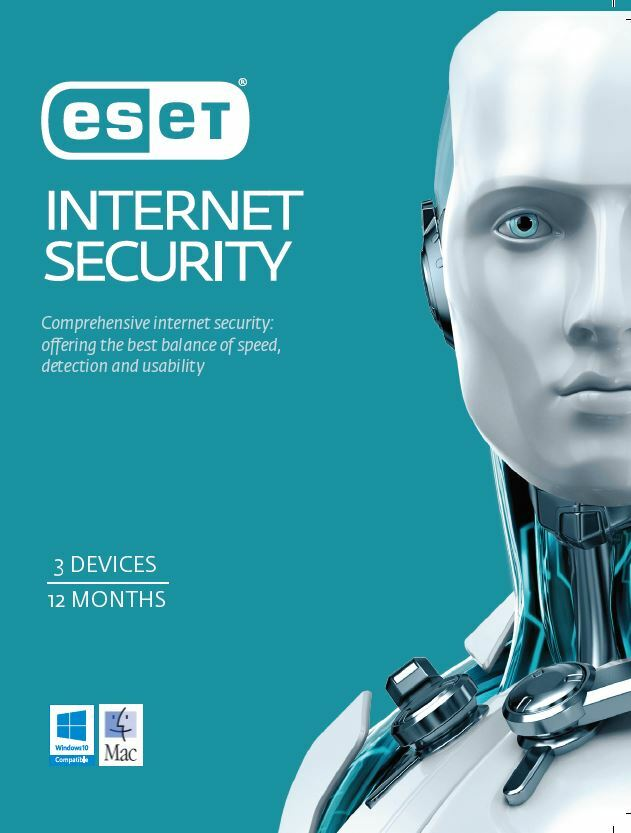 ESET Internet Security 3 Device 1 Year License Card