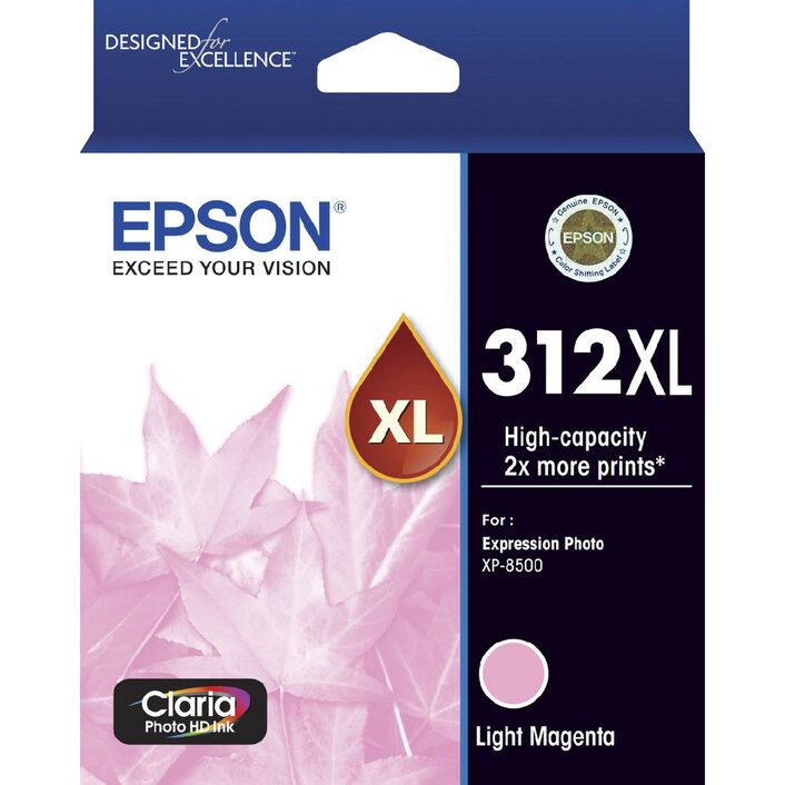 Epson 312XL Light Magenta Ink Cartridge