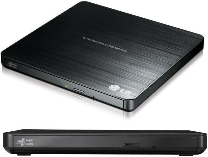 LG 8x Ultra Slim Portable External USB DVD Drive Burner