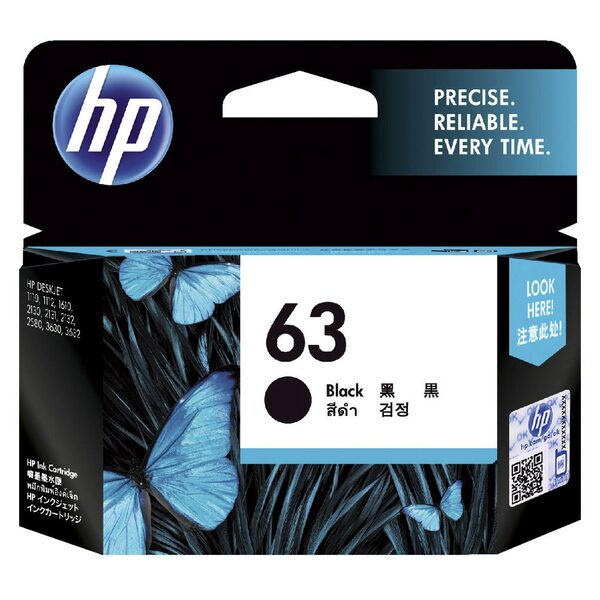 HP 63 BLACK INK CARTRIDGE
