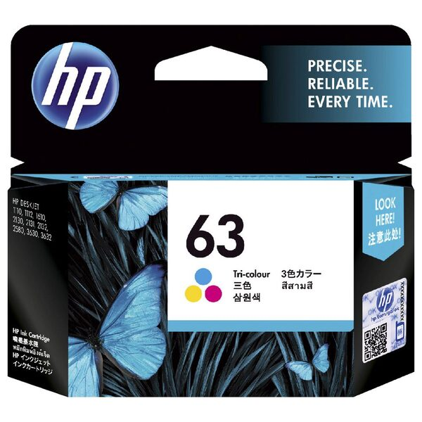 HP 63 TRI-COLOUR INK CARTRIDGE