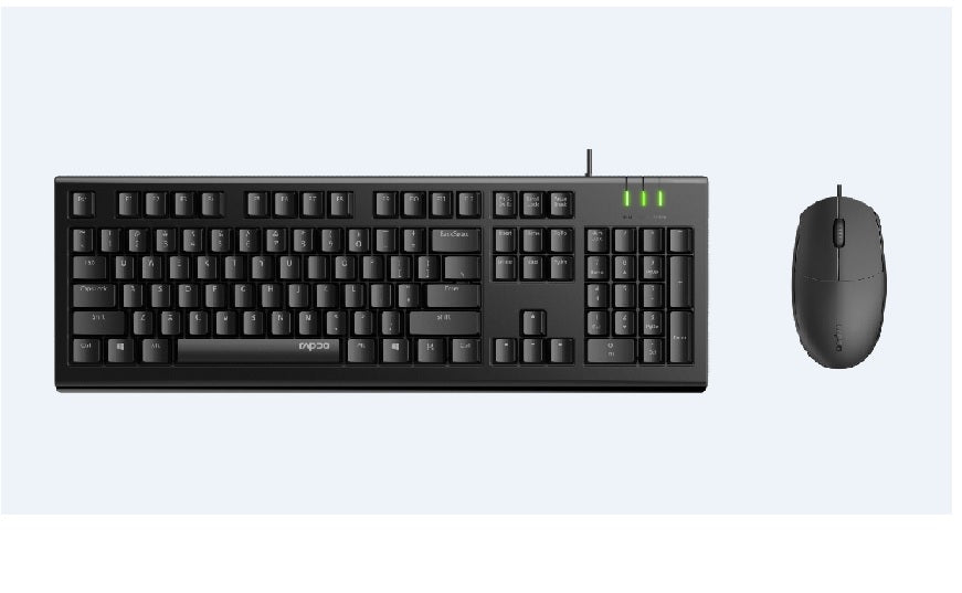Rapoo X120 Pro Wired Mouse and Keyboard Combo