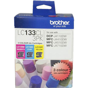 Brother LC-133 Ink Cartridge CMY Value Pack
