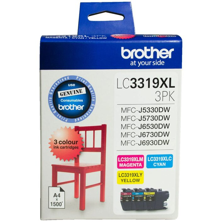 Brother LC-3319 XL CMY Colour Ink Pack