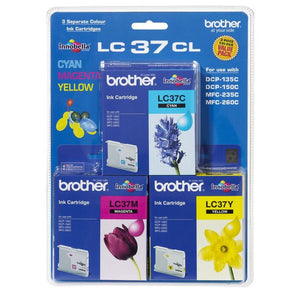 Brother LC-37 CMY Ink Cartridge Pack