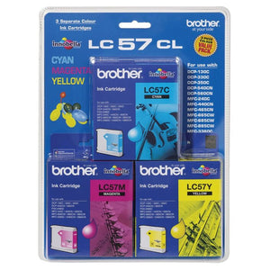 Brother LC-57 CMY Ink Cartridge Pack