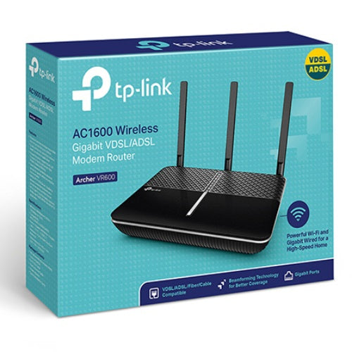 TP-Link Archer VR600 AC1600 Wireless Gigabit VDSL/ADSL Modem Router NBN ready