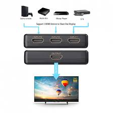 Simplecom Ultra HD 3 Way HDMI Switch 3 in 1 out