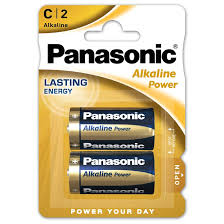 PANASONIC ALKALINE C BATTERY 2-pack