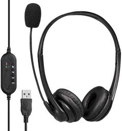 HEADSET WITH BOOM MIC - USB