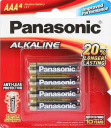 PANASONIC AAA BATTERY 4-pack