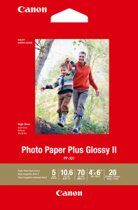 CANON GLOSSY PHOTO PAPER PP-301 4 X6 20 sheet