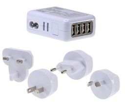 Worldwide USB Charger Adaptor - includes adaptors for Australian, European, US and UK style outlets