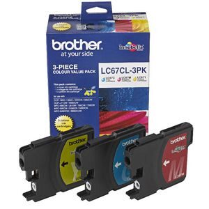 Brother LC-67 CMY Ink Cartridge Value Pack