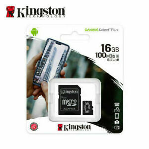 KINGSTON 16Gb MICRO SD WITH ADAPTER canvas select plus
