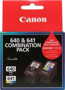 1X PG-640 BLACK, 1 X CL-641 COLOUR INK CARTRIDGE COMBO PACK