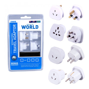 LASER INTERNATIONAL TRAVEL ADAPTERS WITH BONUS POUCH