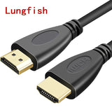 Lungfish High Speed HDMI cable 0.3m 1m 1.5m 2m 3m 5m 7.5m 10m 15m video cables 1.4 1080P 3D gold plated Cable for HDTV XBOX PS3 - techessentialstoday
