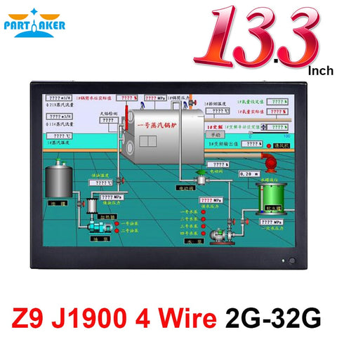 13.3 Inch Industrial Touch Panel PC All in One Computer