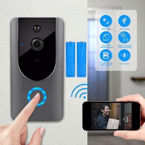 HD 720P Smart WIFI Doorbell Wireless Intercom Door Bell With Camera  Motion Detection Night Vishion Video Waterproof - techessentialstoday